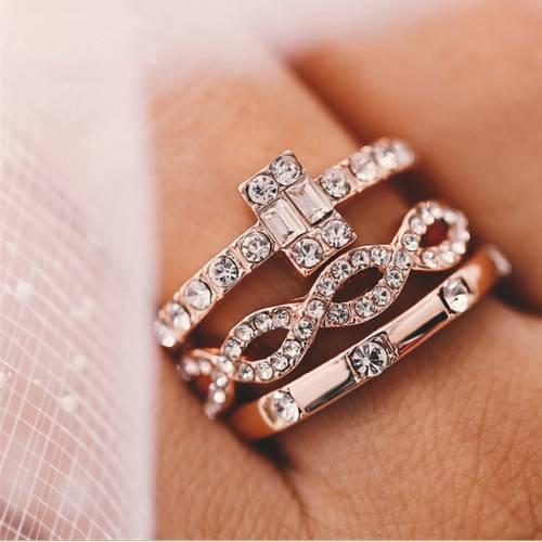 Женские кольца с фианитами на Алиэкспресс
