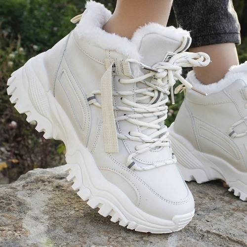 Женские зимние ботинки с мехом 2020-2021 с Алиэкспресс
