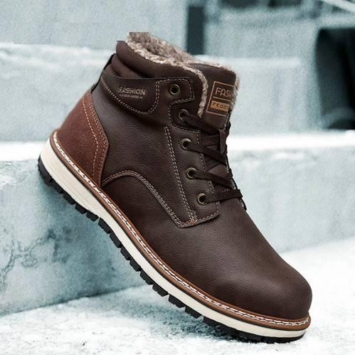 Мужские зимние ботинки 2020-2021 на Алиэкспресс