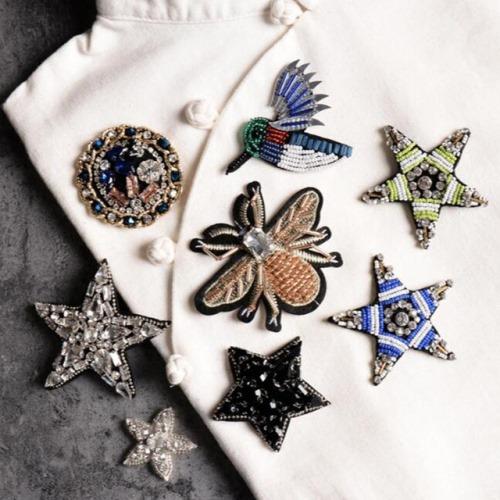 Броши с вышивкой и кристаллами на Алиэкспресс