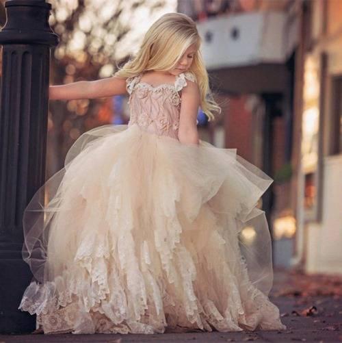 Платья с необычными шлейфами для девочек на Алиэкспресс