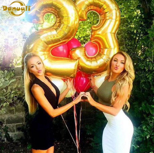 Воздушные шары из фольги на День Рождения