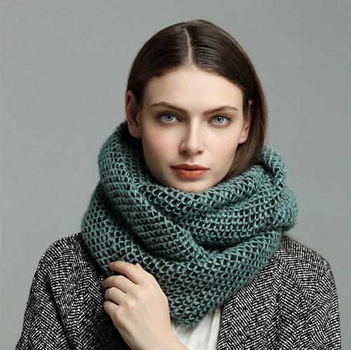 Женские вязаные шарфы и снуды на Алиэкспресс