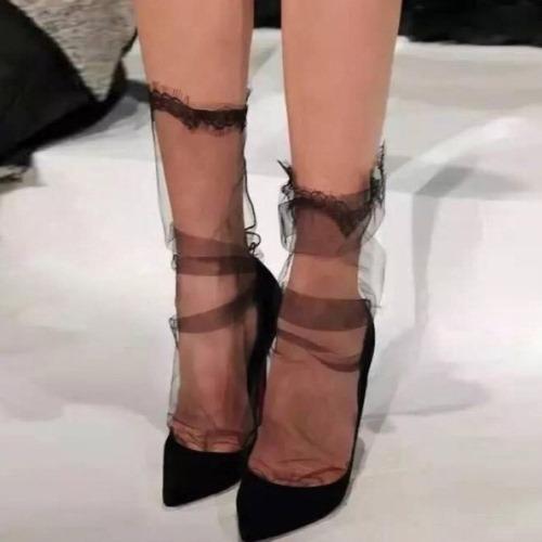 Модные капроновые носочки на Алиэкспресс