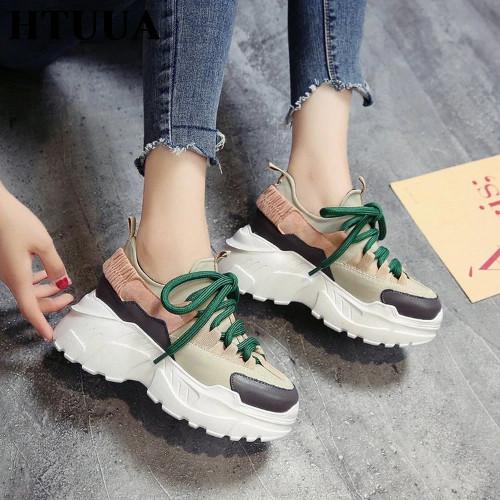 Женские кроссовки на платформе на Алиэкспресс