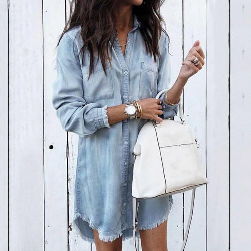 Женские джинсовые рубашки 2019 на Алиэкспресс