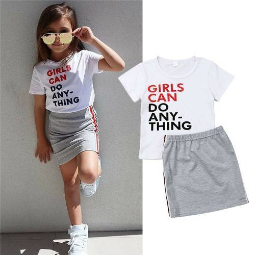 Летние комплекты одежды для девочек на Алиэкспресс